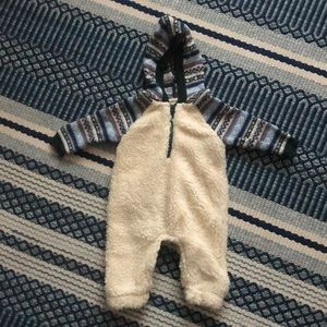 Gymboree One Pieces - Gymboree Knit and Sherpa Baby Bodysuit